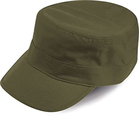TANK VERDE OLIVE BERRETTO MILITARE VASCO CAP CHAPEAUX 100% COTONE UNISEX b207d2ea3692