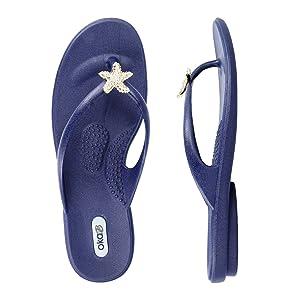 Jaylin Flip Flop Sandal Color Sapphire by OkaB (M)