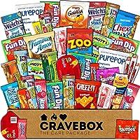 CraveBox Das Klassische (30 Count) - Sorten-Sortiment Bündel Snacks, Bonbons, Chips, Schokolade, Kekse, Müsliriegel