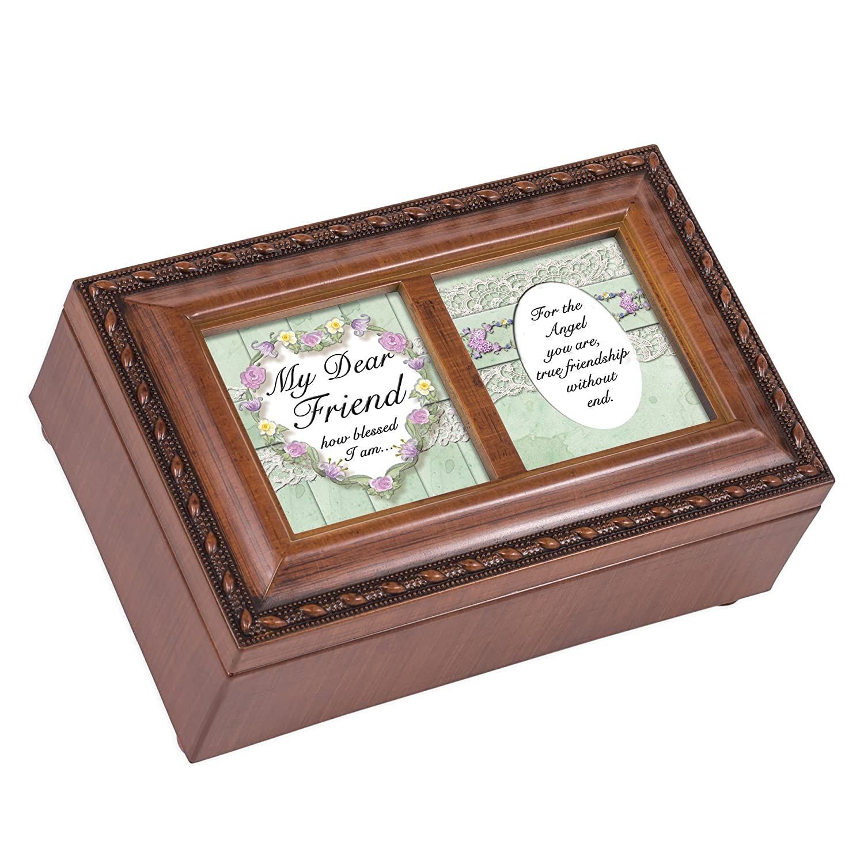【おまけ付】 My I Dear Friend Blessed I Finish Am Wood Finish Smallジュエリー音楽ボックスPlays Friend We Have a Friend in Jesus B003AKDNP6, サイクルヨシダ:da286170 --- arcego.dominiotemporario.com