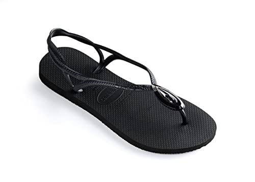 4e496c126 Havaianas Luna Special Sandals Black  Amazon.co.uk  Shoes   Bags