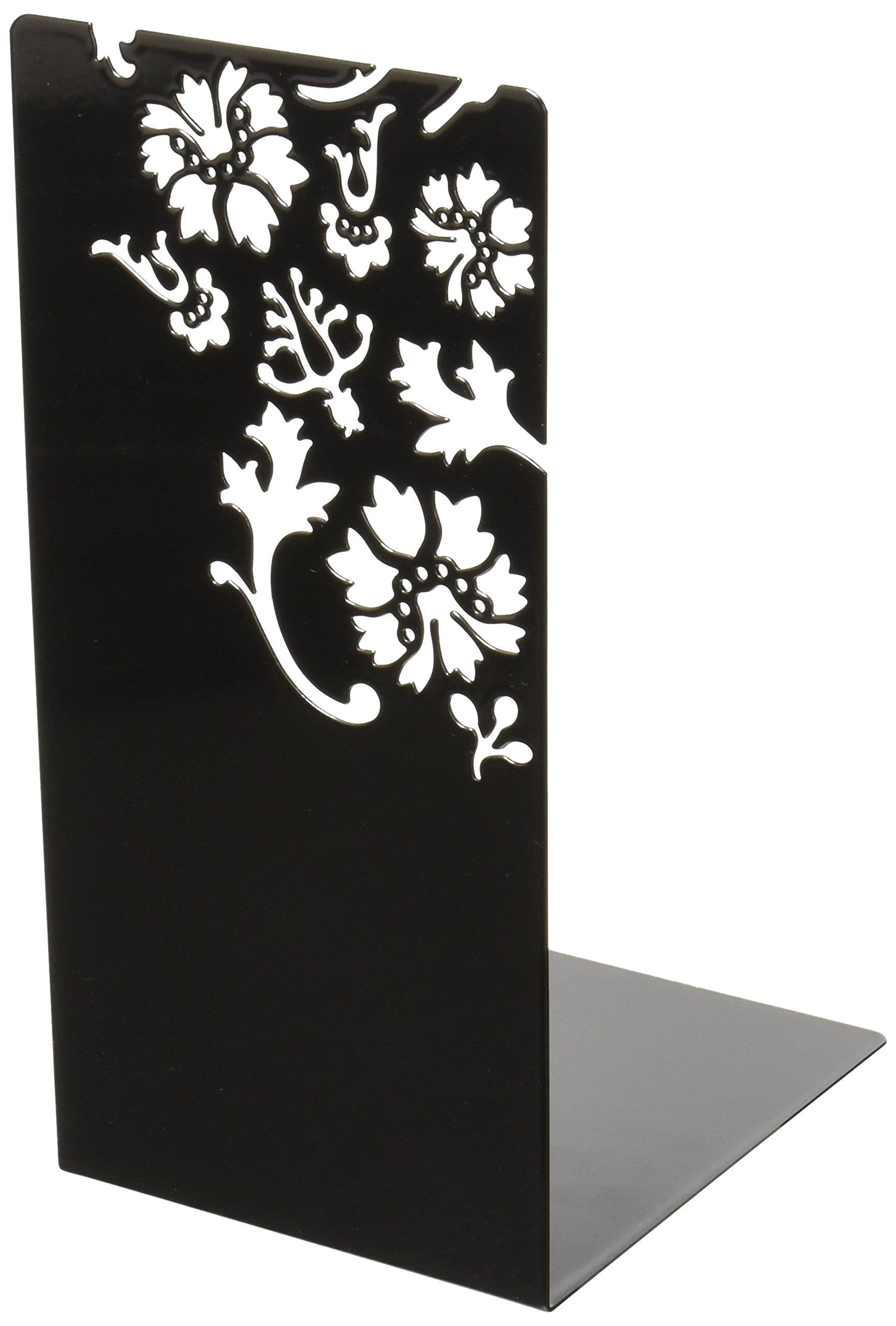 YAMAZAKI home Kirie L-Book End, Large, Black
