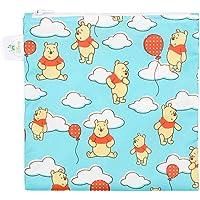 Bumkins Disney Winnie The Pooh Sandwich Bag / Snack Bag, Reusable, Washable, Food Safe, BPA Free, 7x7 , Pack of 1