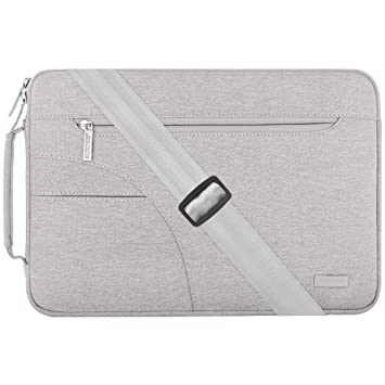 MOSISO Funda Protectora Compatible con 13-13.3 Pulgadas MacBook Air/MacBook Pro Retina/2019 Surface Laptop 3/Book 2, Bolsa de Hombro Blanda Maletín ...
