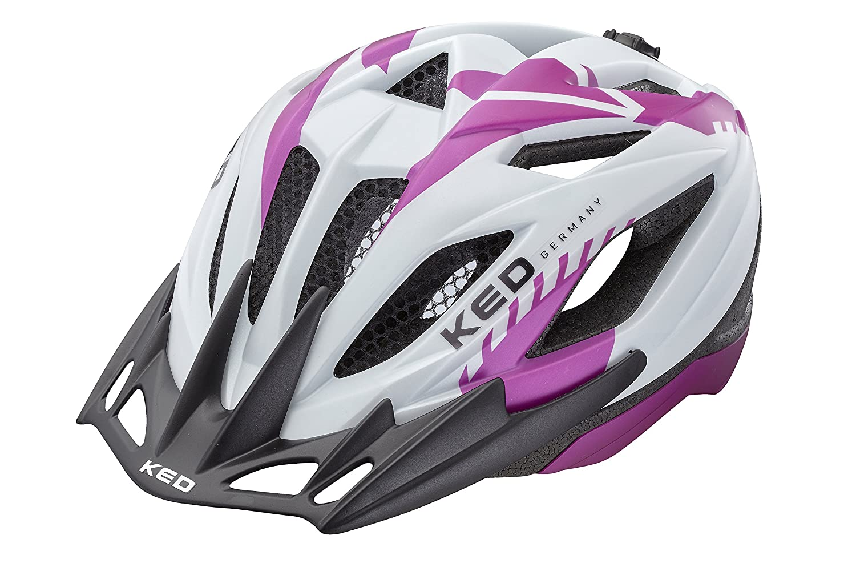 KED Status jr Junior Jugendhelm Kinderhelm Fahrradhelm pearl violet matt 49-54