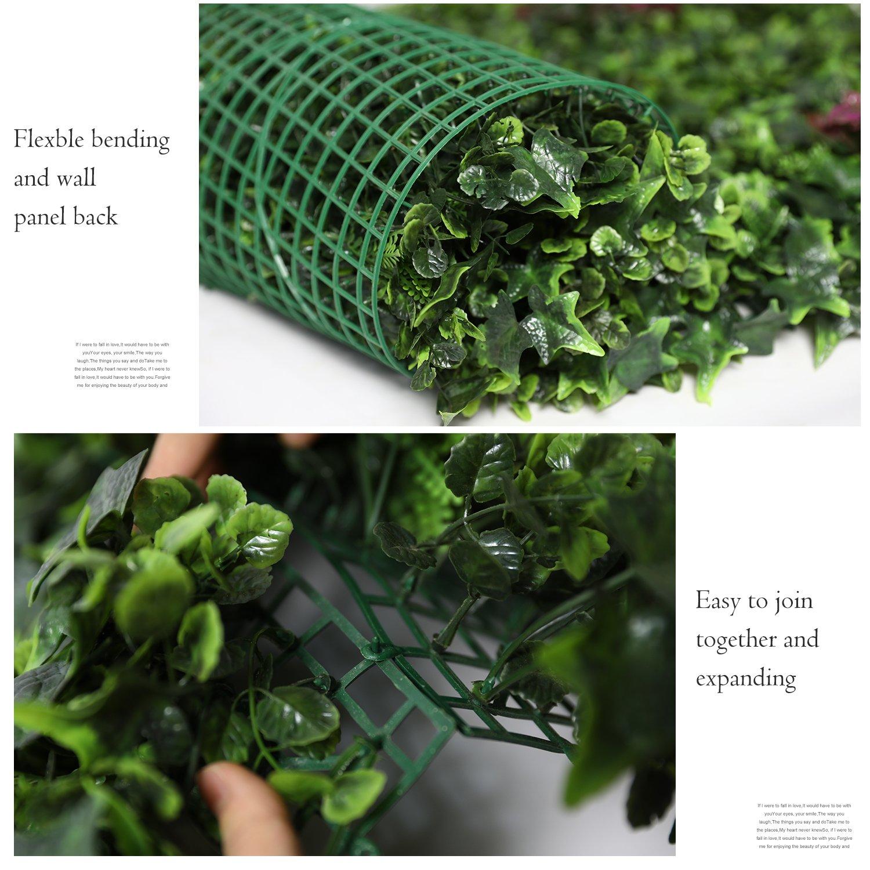 Wunderbar Wandgarten Innen Sammlung Von Justoyou Efeu-hecke, Künstlicher Sichtschutz-zaun, Buchsbaum-panel Für Wandgarten,