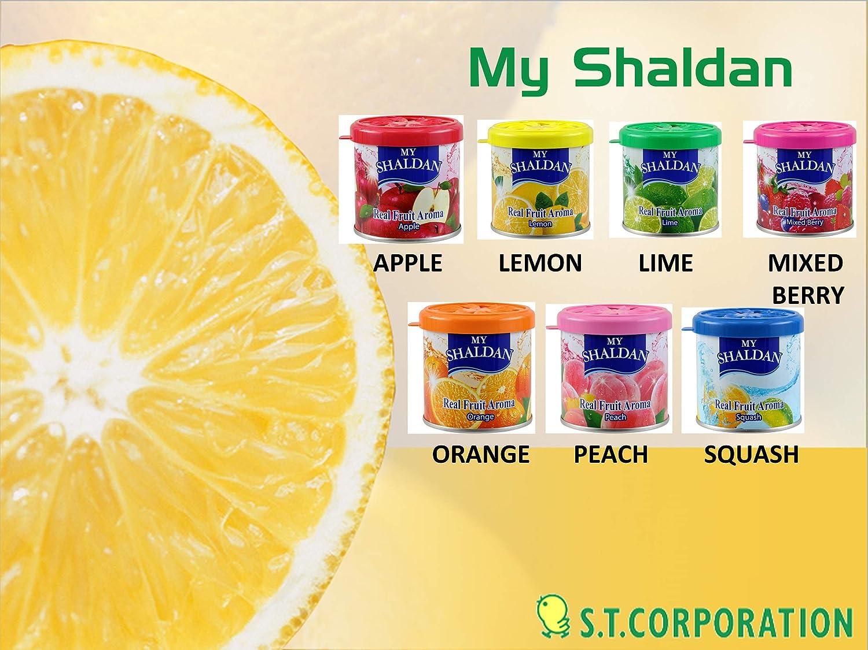 My Shaldan 7 packs Assorted Scent Car Air Freshener (Apple, Lemon, Lime, Mango, Mixed Berry, Orange, Squash Scents)