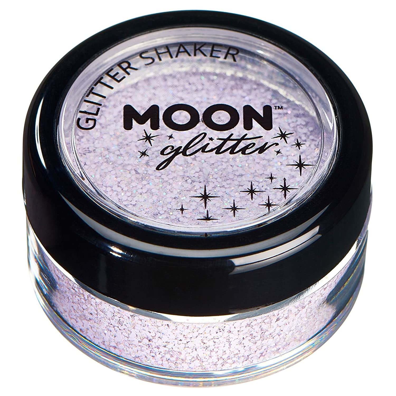 Pastel Glitter Shakers by Moon Glitter – 100% Cosmetic Glitter for Face, Body, Nails, Hair and Lips - 0.10oz - Coral
