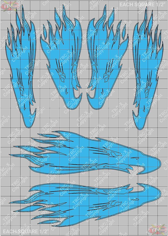 TRC8130P Screaming Eagle RC Body Custom Spray Paint Stencil//Mask Airbrush
