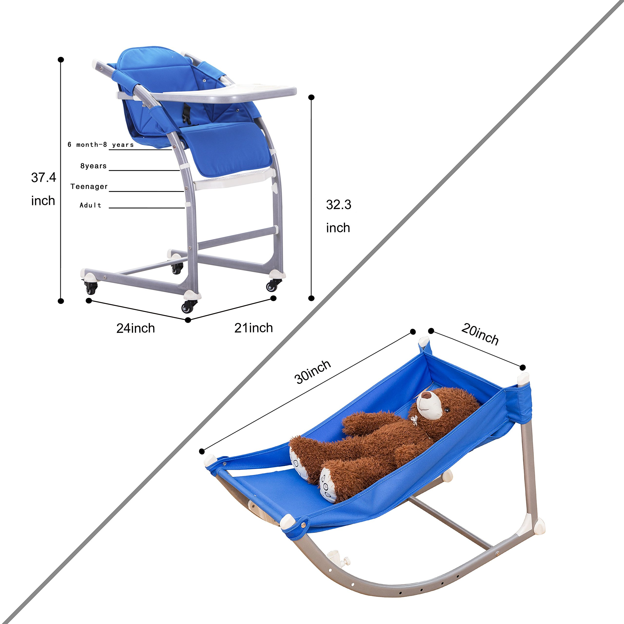 Color Blue Sdadi-Aluminum alloy adjustable high chair (Blue) Sdadi adjustable chair is a multistagecomfortable and sturdy seat that willhave a place in ...  sc 1 st  Chickadee Solutions & Sdadi Aluminumalloy Adjustable High Chair Rocker Youth Chair ...