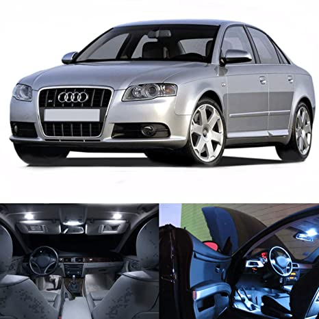 Amazoncom Led White Lights Interior Package Kit For Audi A4 2005