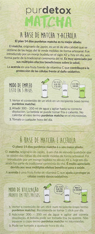 DIAFARM - PURDETOX MATCHA 14stick SIKEN FORM: Amazon.es: Salud y cuidado personal