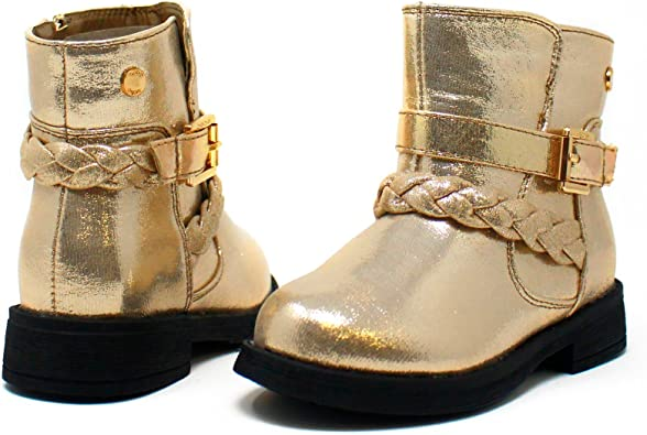 gold boots for toddler girl