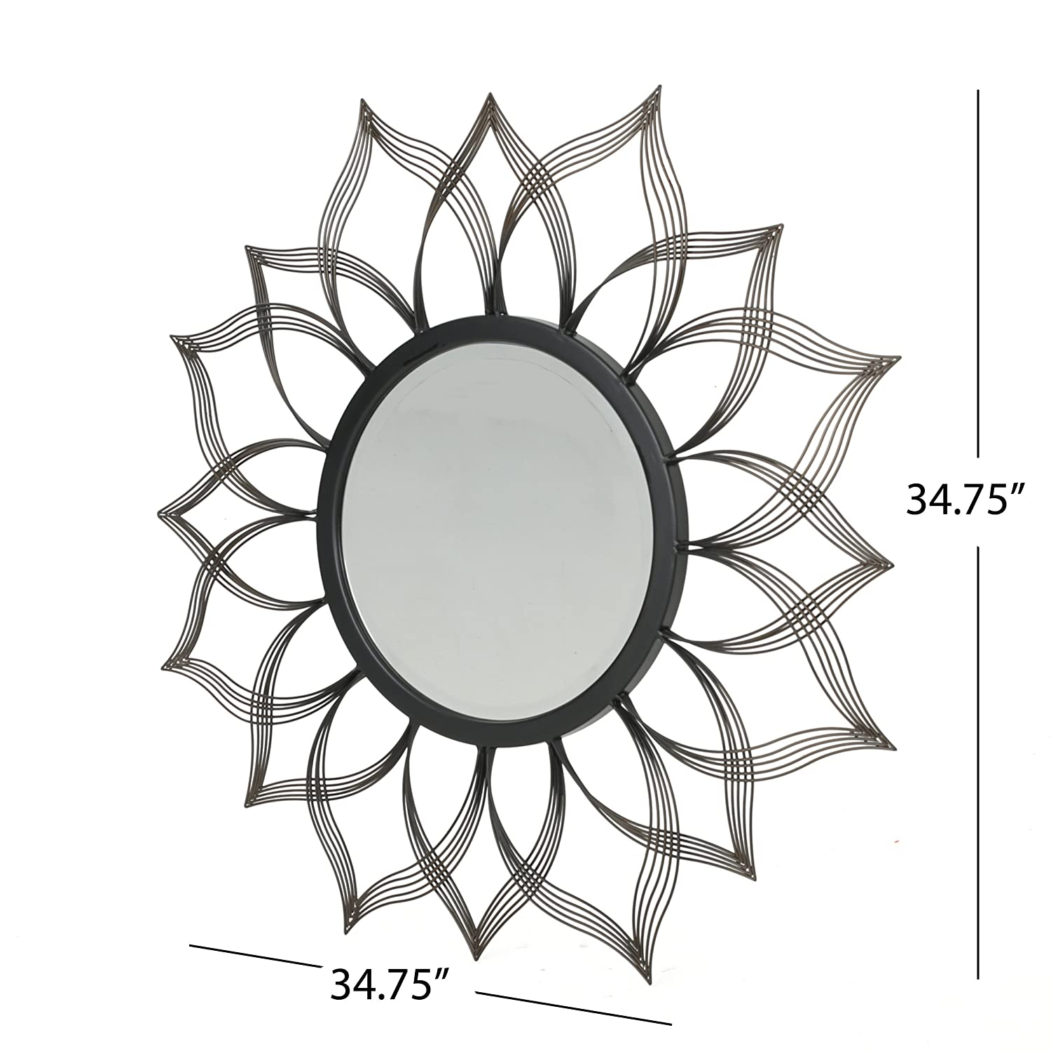 Christopher Knight Home 301748 Serenidy Mirror Black Clear