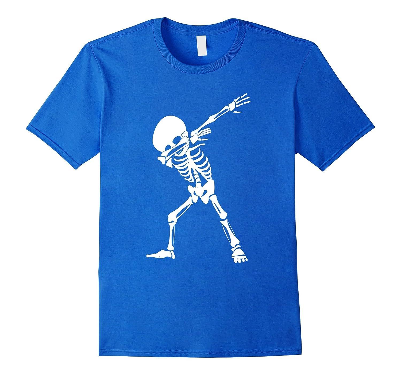 Dabbing Skeleton Shirt - Funny Halloween Dab Skull T-Shirt-T-Shirt