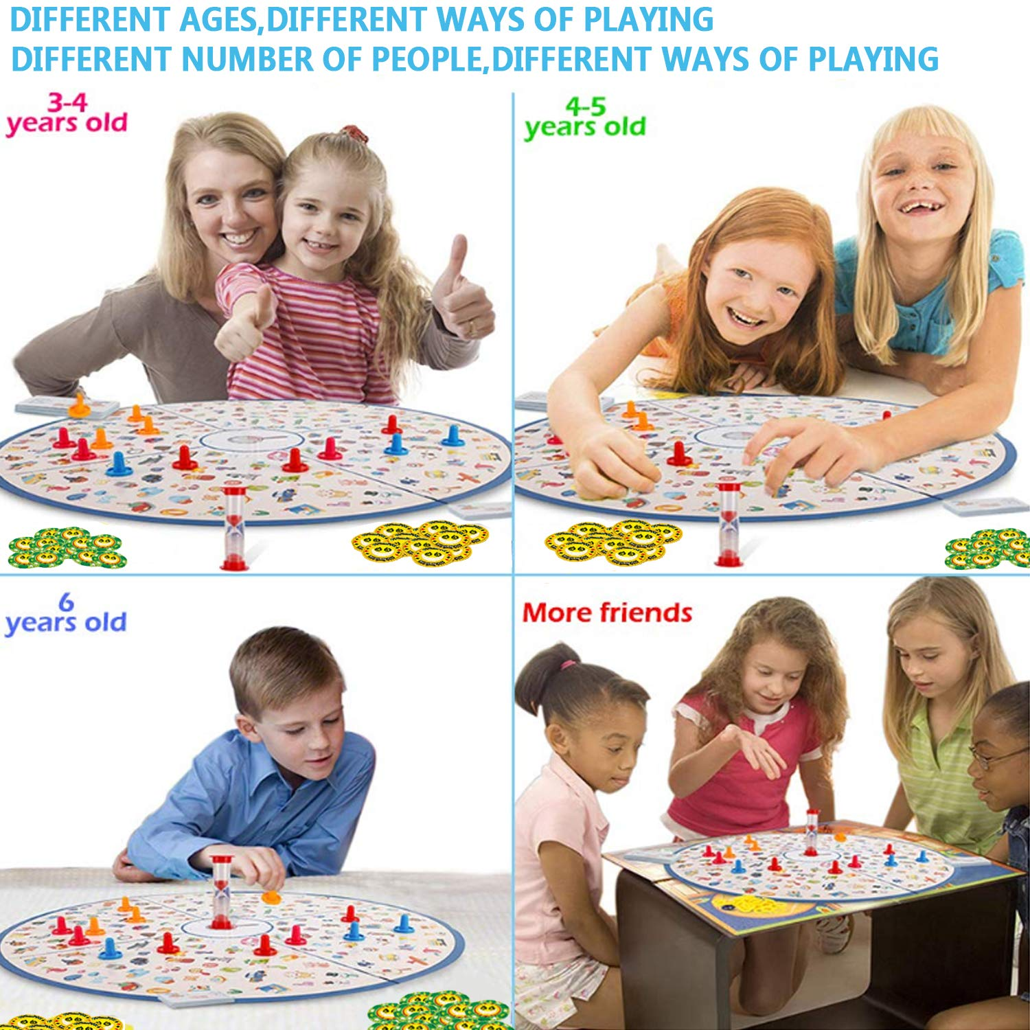 Board Game, Little Detective Card Game Tabletop Game for Kids Families Party,Party Game,Matching Game,Educational Toys for Kids Toddlers 3,4,5,6,7 Years Old Boys & Girls Gift