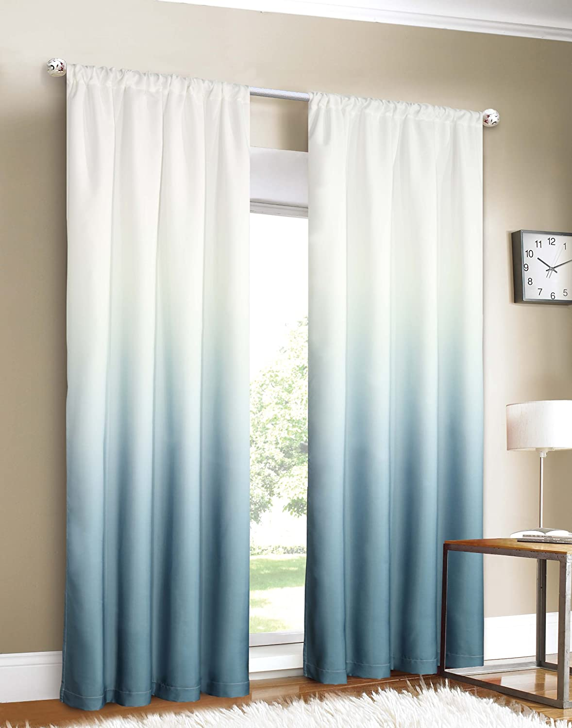 Amazon.com: Dainty Home Shades 2-Window Panel Rod Pocket Set, 40 by ...