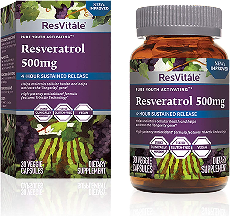 Amazon Com Resvitale Resveratrol 500mg Health Personal Care