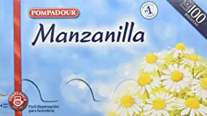 Pompadour Té Infusion Manzanilla - 100 bolsitas - [pack de 2 ...