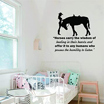 Horse Horse Riding Wall Art Vinyl Graphic Sticker Wallpaper Decal!!Bedroom