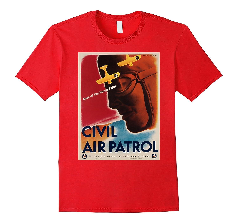 Mens Vintage poster Patrol T Shirt-Tovacu