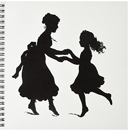 3drose Db 119588 1 Sweet Vintage Silhouette Of Mother N Daughter