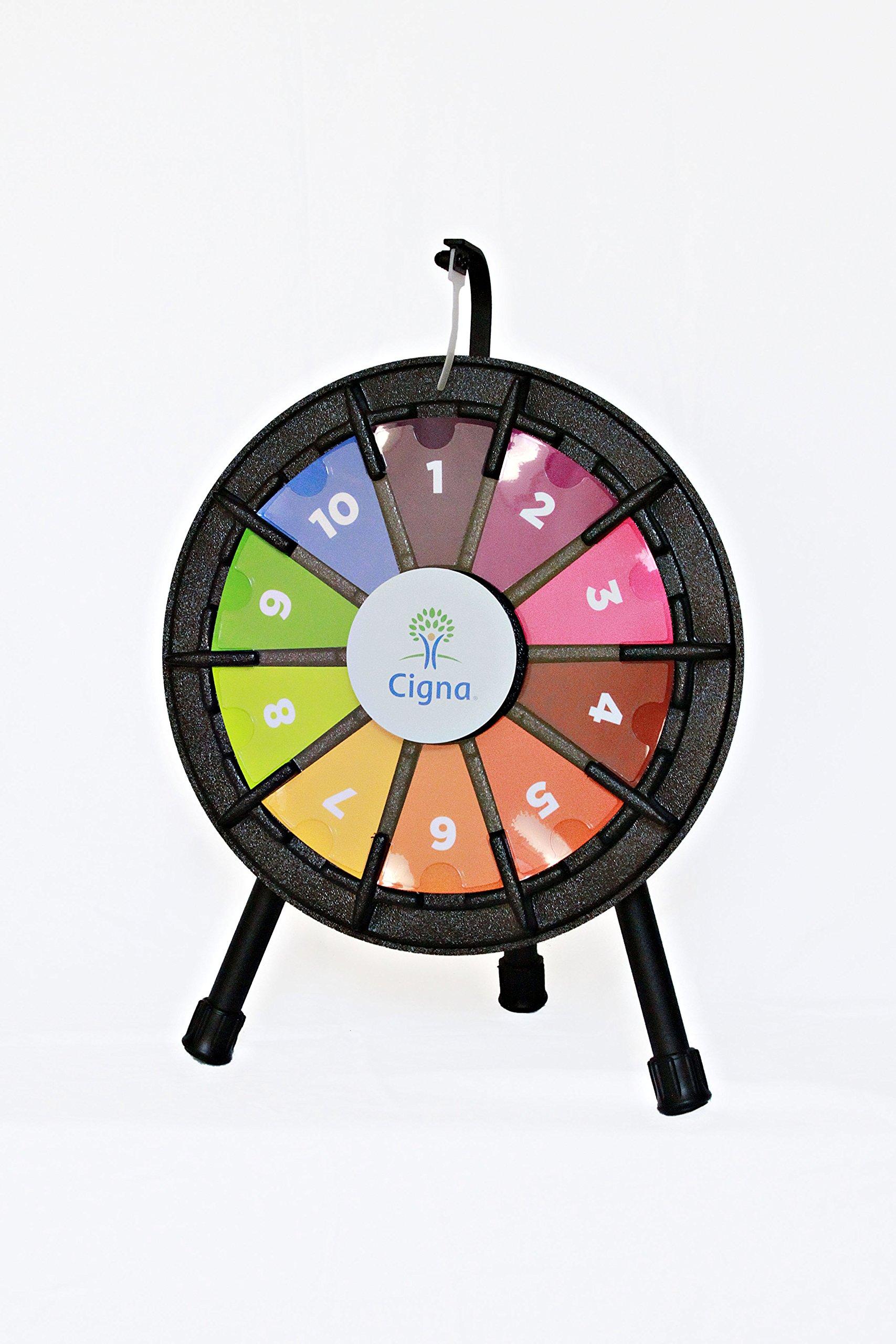 10 Slot Tabletop Micro Prize Wheel (14 Inch Diameter)