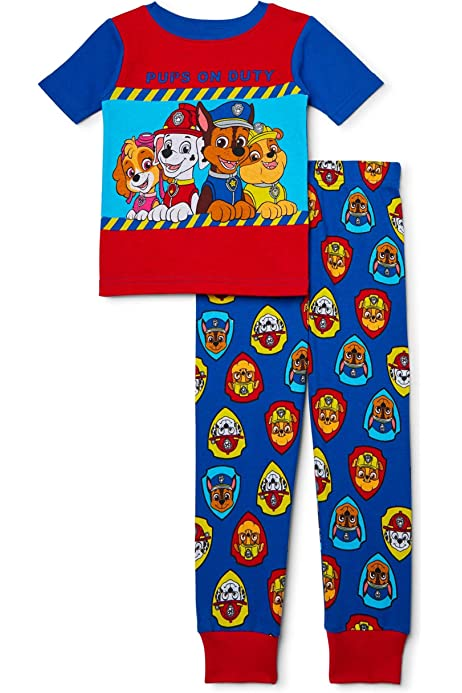 Red and Blue 5T Paw Patrol Rubble Marshall /& Chase Toddler 2 Tops /& 2 Bottoms 4pcs Pajama Sets