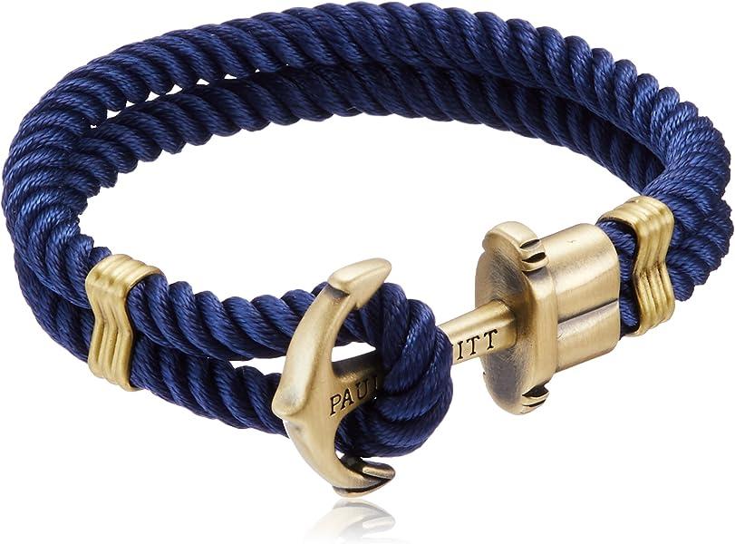 b31705f9e975  ポールヒューイット  PAUL HEWITT PHREP アンカーモチーフ ロープ ブレスレット ネイビー×アンティークゴールド (