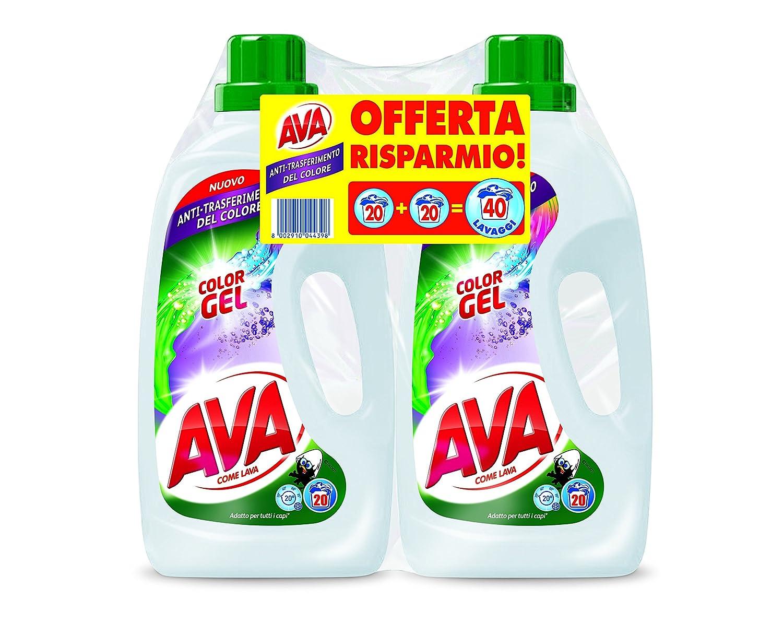 Ava Color Gel - Detergente líquido para lavadora en paquete de 2 ...