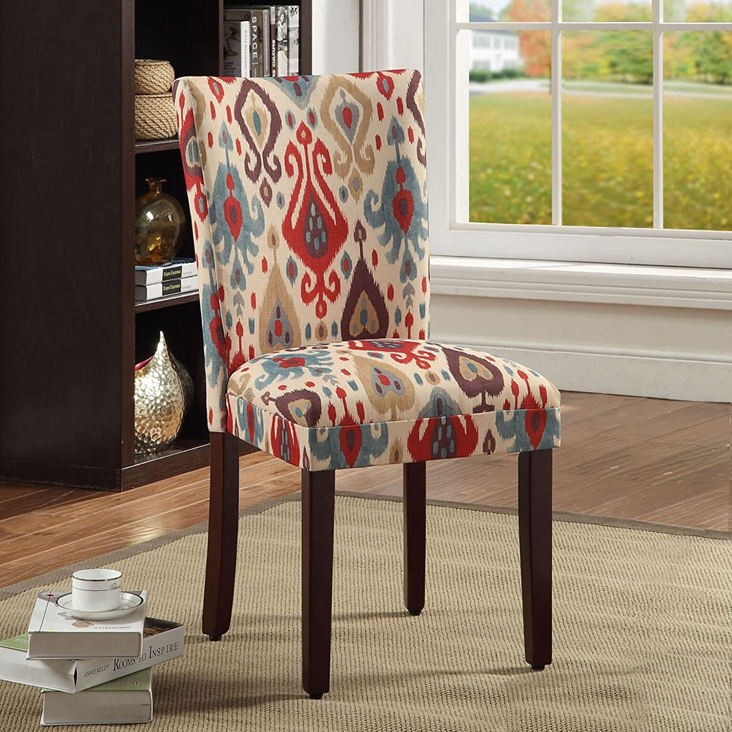 Set of 2 Sienna Kinfine  Parsons Deluxe Multi-Color Ikat Dining Chair