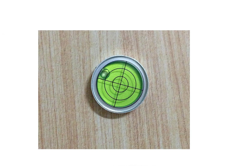 High Accuracy 30' 2mm D30mm 1.2 Alloy Metal Shell Bullseye Bubble Level for RV Tripod Ball Head