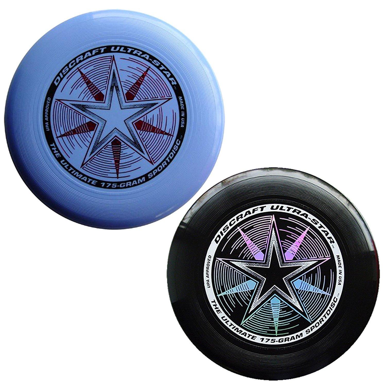 Discraft 175 gram Ultra Star Sport Disc - 2 Pack (Black & Light Blue) by Discraft