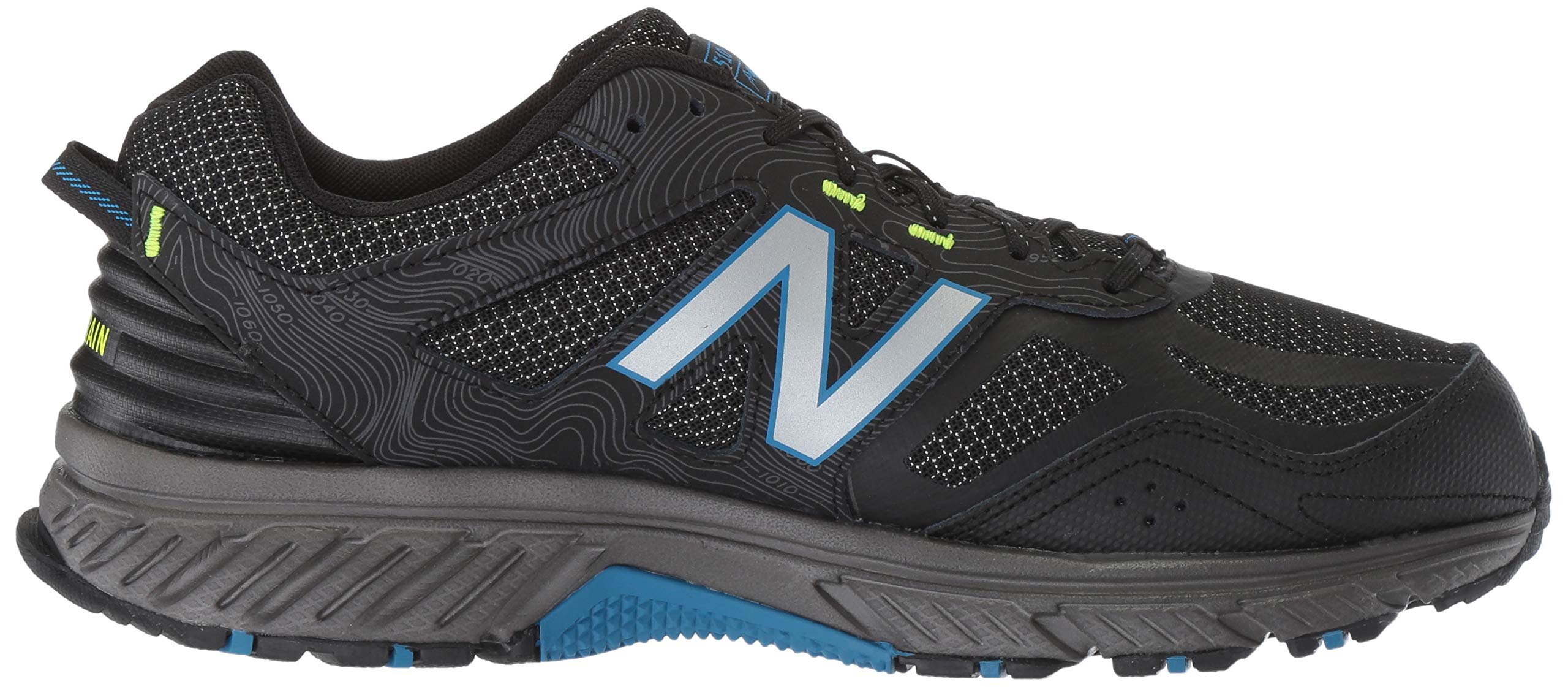New Balance Men's 510v4 Cushioning Trail Running Shoe, Magnet/Black/Reflective, 7.5 D US by New Balance (Image #7)
