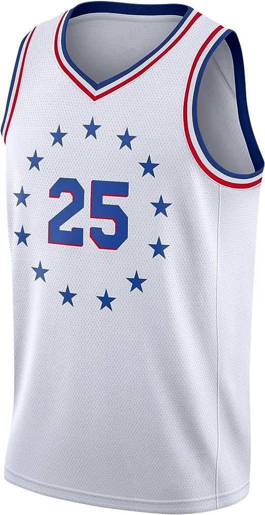 Hombre Ropa Baloncesto Ben Simmons #25 Jersey Camiseta Baloncesto ...