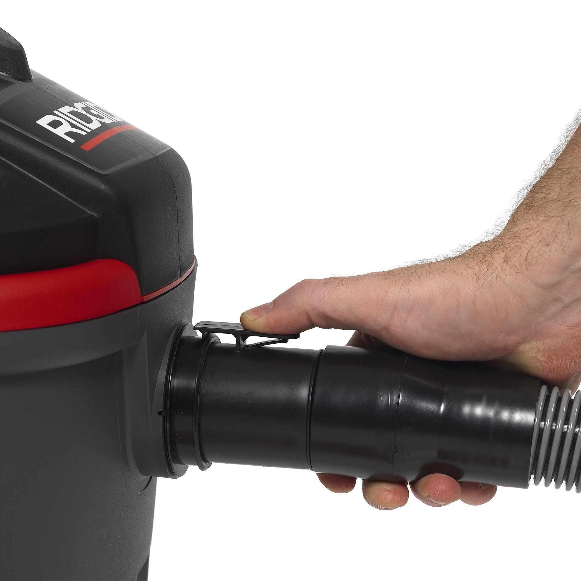 RIDGID 50313 4000RV Portable Wet Dry Vacuum, 4-Gallon Small Wet Dry Vac with 5.0 Peak HP Motor, Pro Hose, Ergonomic Handle, Cord Wrap, Blower Port by Ridgid (Image #8)