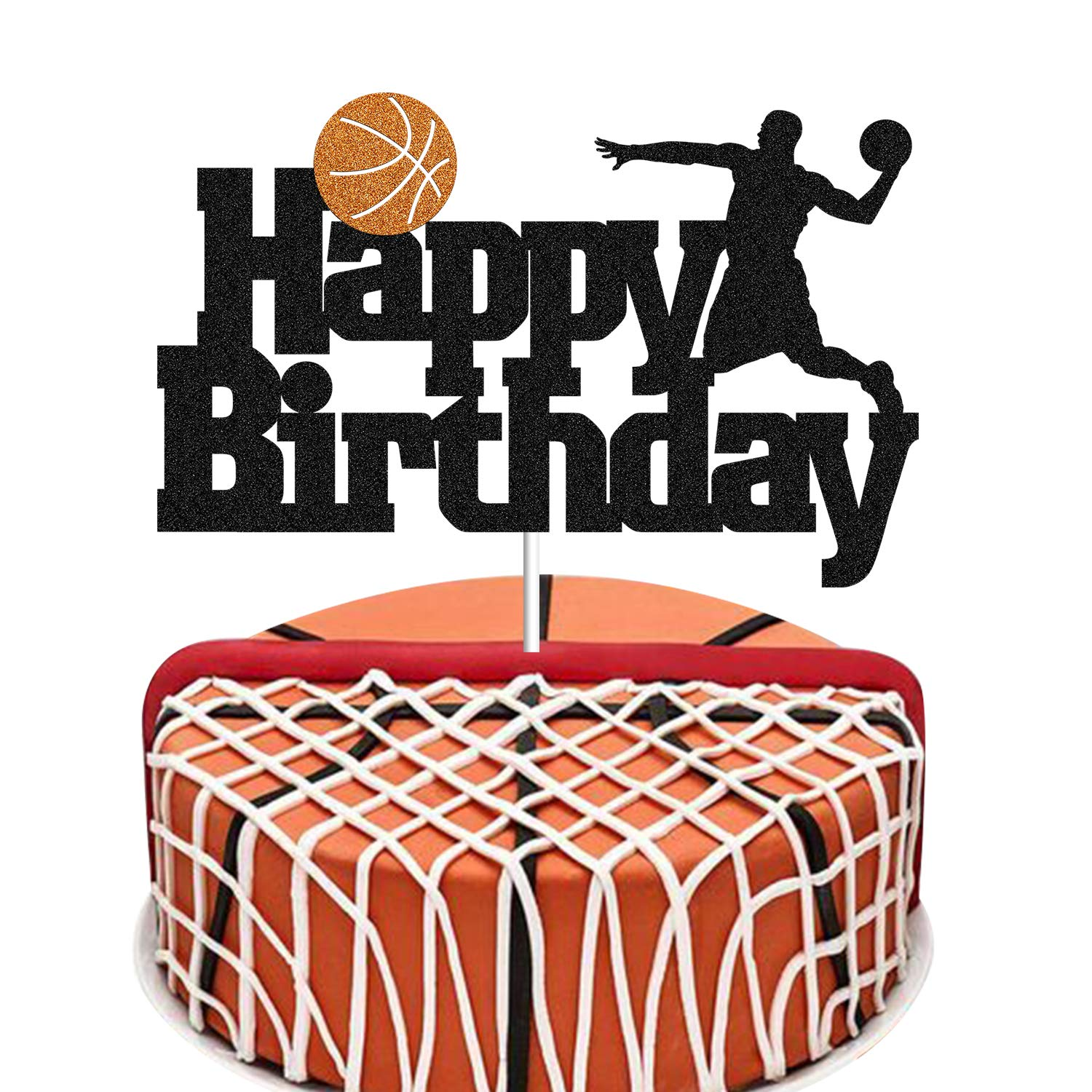 Super Basketball Cake Topper Basketball Scene Themed Cake Fruit Picks Funny Birthday Cards Online Alyptdamsfinfo