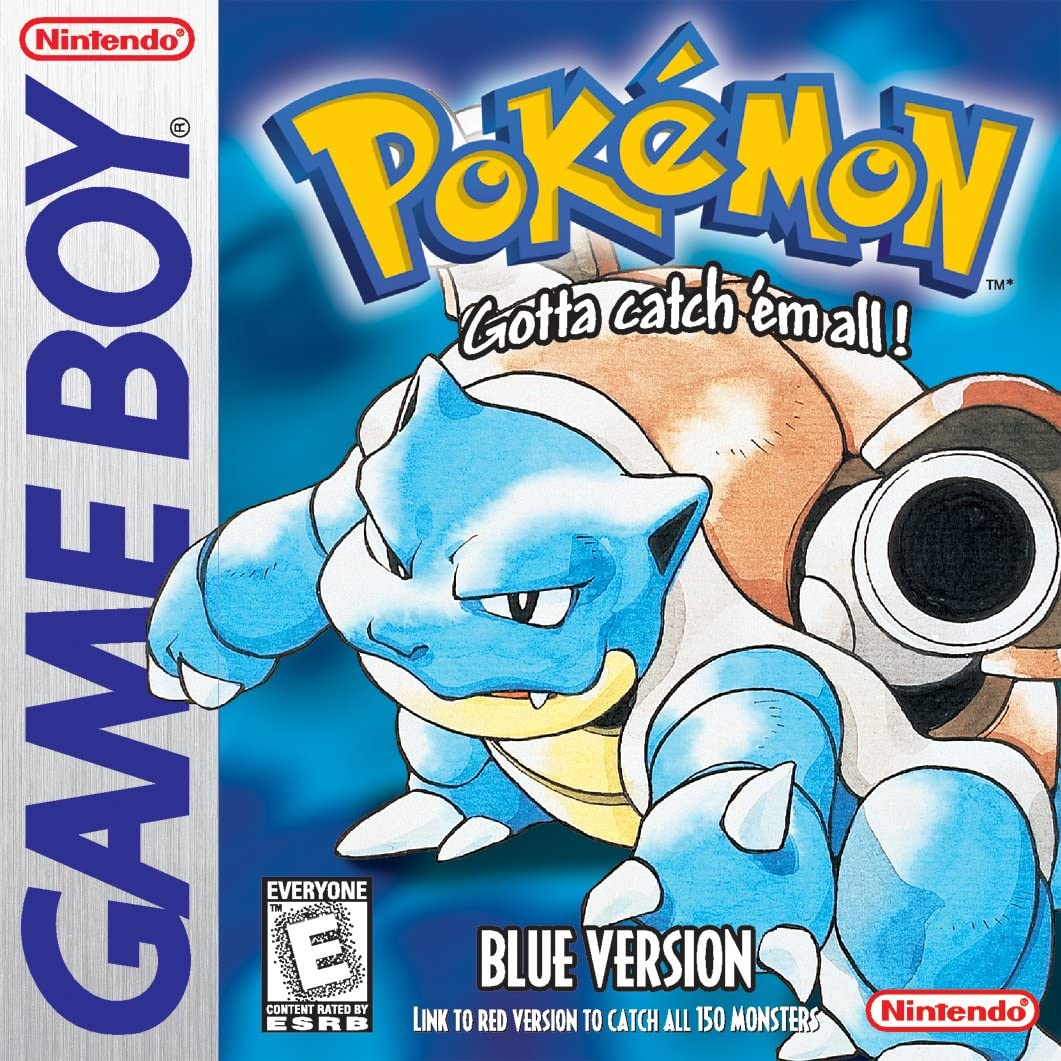 Pokemon Red Blue Yellow Game Case