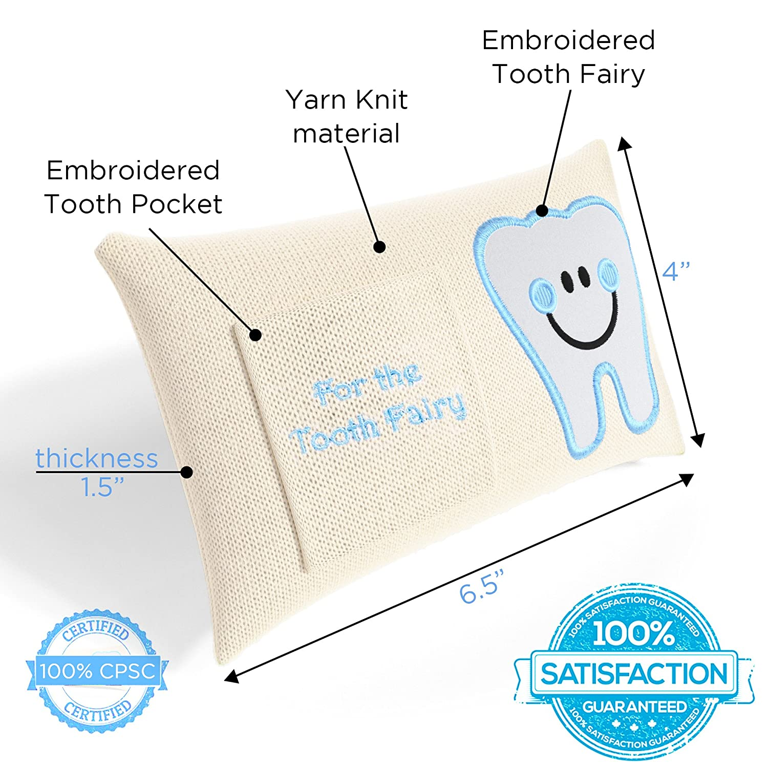 Amazon CHERISHED KID Tooth Fairy Pillow Kit for Boys with