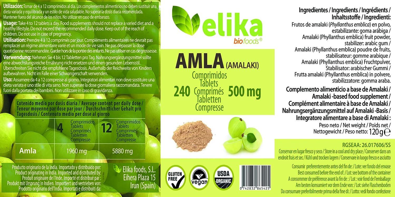Elikafoods Amla 240 Comprimidos - 1 unidad