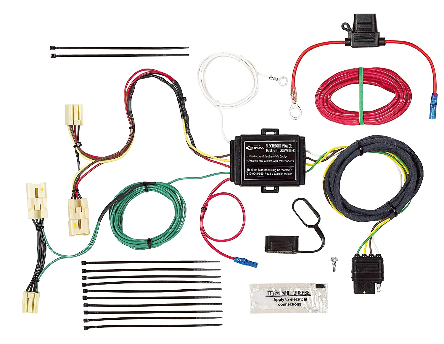 Hopkins 43314 Plug-In Simple Vehicle Wiring Kit Hopkins Towing Solution