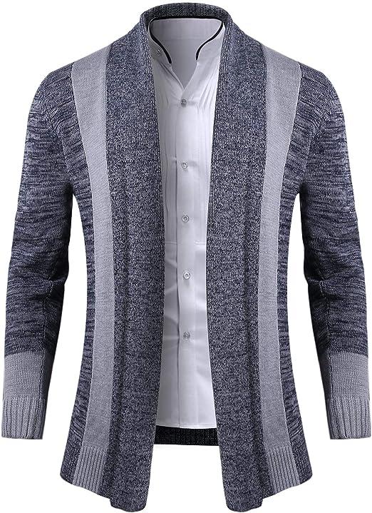 iClosam Chaqueta Su/éTer Hombre Oto/ñO Primavera Cl/áSico Transpirable Cardigan Hombre Rebeca Outwear Tops Sueltos