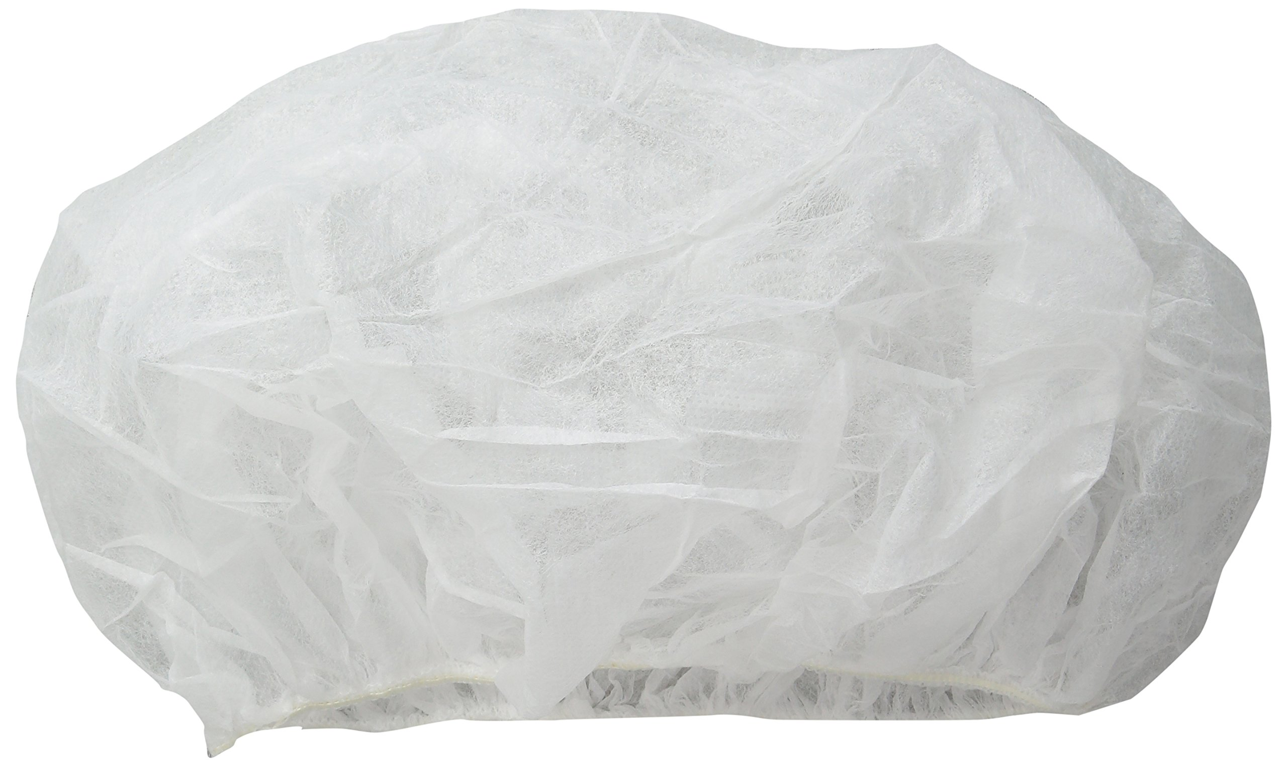 Dupont IC729SWH0002500B White Tyvek IsoClean Bouffant Cap, Universal (Pack of 250)