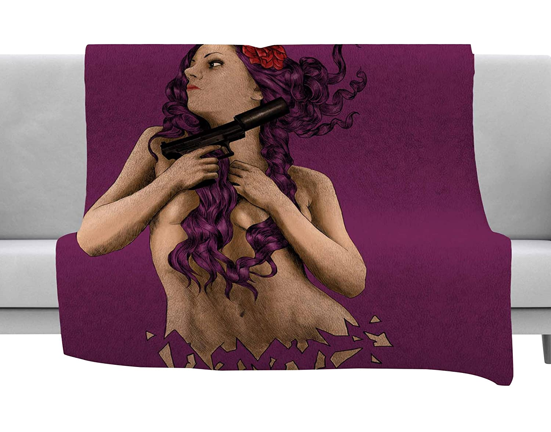 Kess InHouse BarmalisiRTB Keep Yourself Purple People Throw 40 x 30 Fleece Blanket