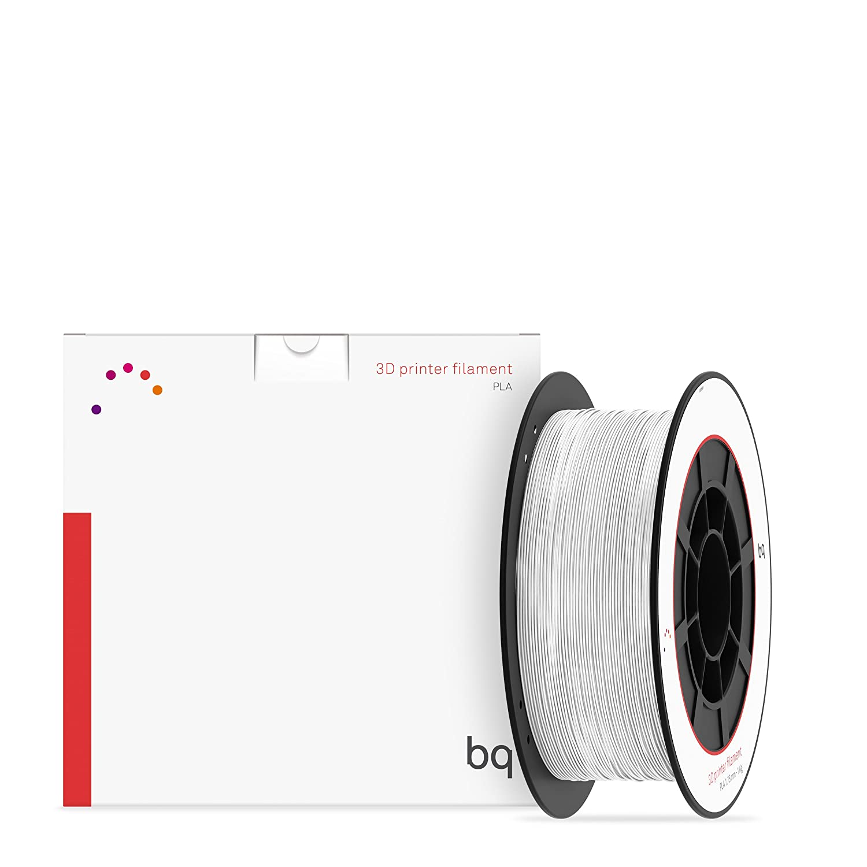 BQ 05BQFIL027 – Filamento de PLA para impresión 3D, color blanco