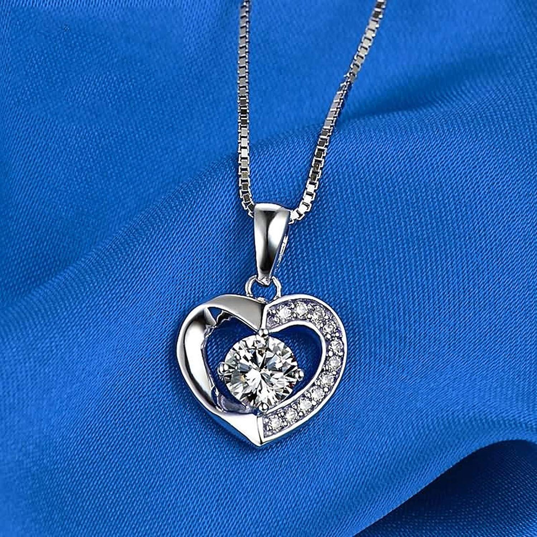 AMDXD Jewelry Women Necklaces Pendant Heart Pendant Necklaces