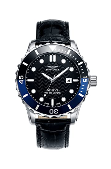 Reloj Suizo Sandoz Caballero 81397-57 Diver Collection: Amazon.es: Relojes