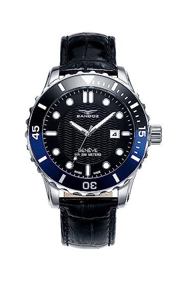 Reloj Suizo Sandoz Caballero 81397-57 Diver Collection: Amazon.es: Relojes