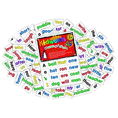 Barker Creek Learning Magnets, Kidwords High Frequency Words, Set of 208: Toys & Games