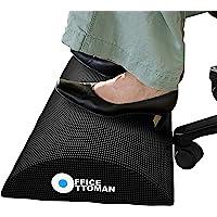 Office Ottoman Foot Rest Under Desk, Premium Ergonomic Footrest and Foot Stool for Desk, Excellent Leg Clearance for…